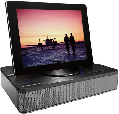 Bluetooth-Lautsprecher Panasonic SC-NP10 mit Tablet-Dock für 75 € - 32% sparen