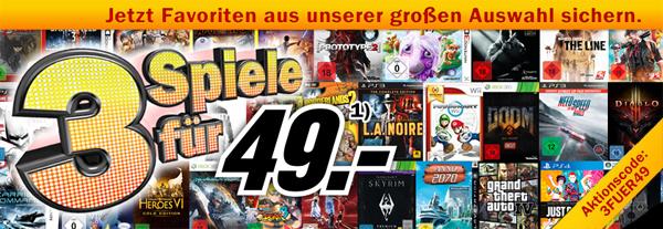 Top! 3 Spiele für zusammen 49 € bei Media Markt *Update* Konter von Amazon