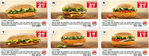 Neues Gutscheinheft für Burger King Österreich - gültig bis 30.04.2014