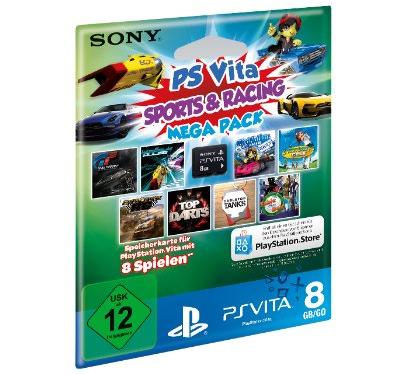 PS Vita: Sports & Racing Mega Pack + 8 GB Speicherkarte für 27 € - bis zu 29% sparen