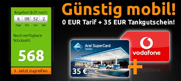 Super! Tankgutschein im Wert von 35 € für 0,15 € durch kostenlosen Handyvertrag