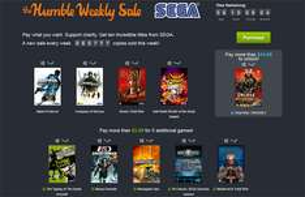 Humble Weekly Sale mit Spielen von Sega zum selbstgewählten Preis ab 0,72 €