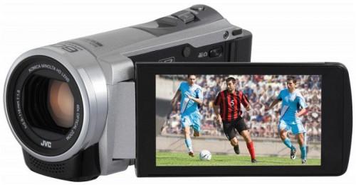 JVC Camcorder Everio GZ-E305 in silber um 111 € - 44% sparen