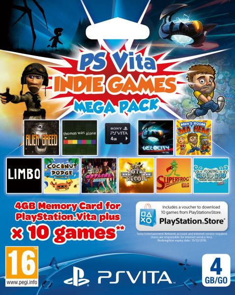 PS Vita Indie Games Mega Pack (10 Spiele + 4 GB Memory Card) für 17,90 € - 31% sparen