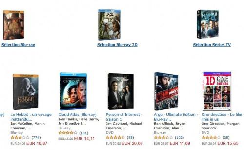 Bei Amazon.fr Filme (mit dt. Ton) für mindestens 100 € erwerben und 50 € sparen