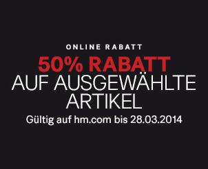 H&M Österreich und Deutschland - 50% auf ausgewählte Artikel im Online-Shop + Gutscheincodes