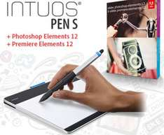 Wacom Intuos Pen Tablet S + Adobe Photoshop/Premiere Elements 12 für 74,35 €