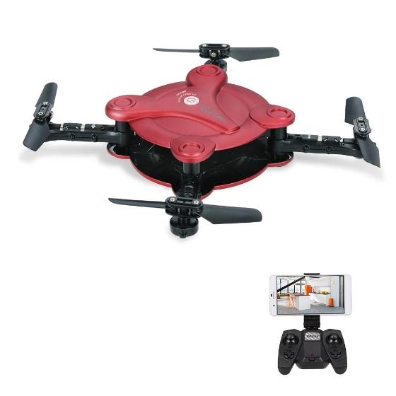 faltbarer quadrocopter mit wifi f r bild bertragung stream auf smartphone und steuerung ber. Black Bedroom Furniture Sets. Home Design Ideas