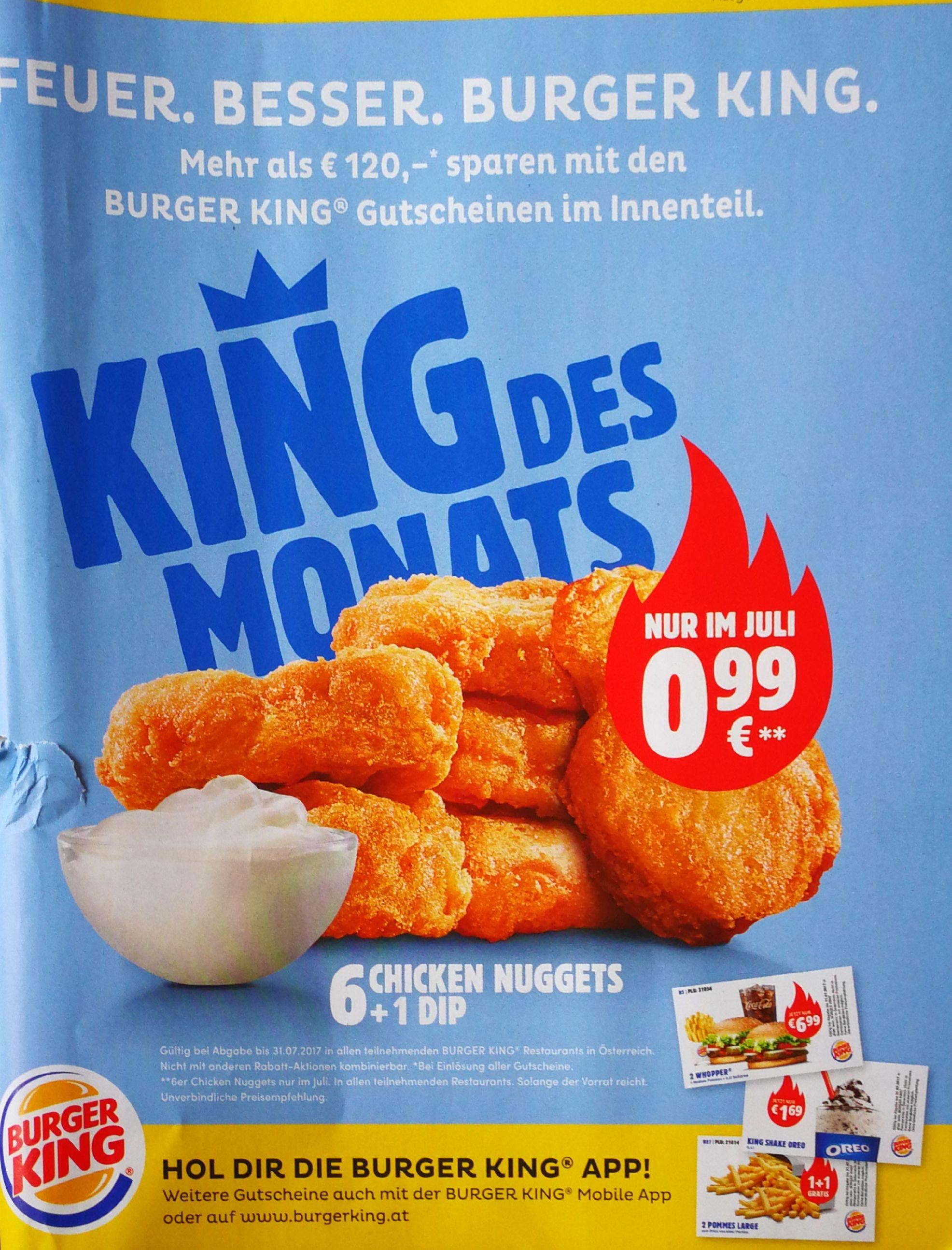 king des monats juli