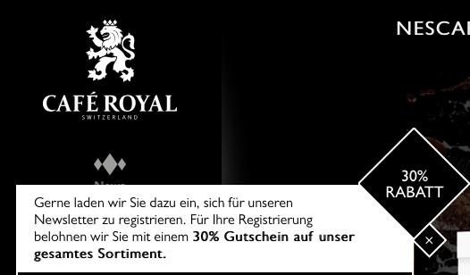 cafe royal kapseln 30 preisj ger at. Black Bedroom Furniture Sets. Home Design Ideas