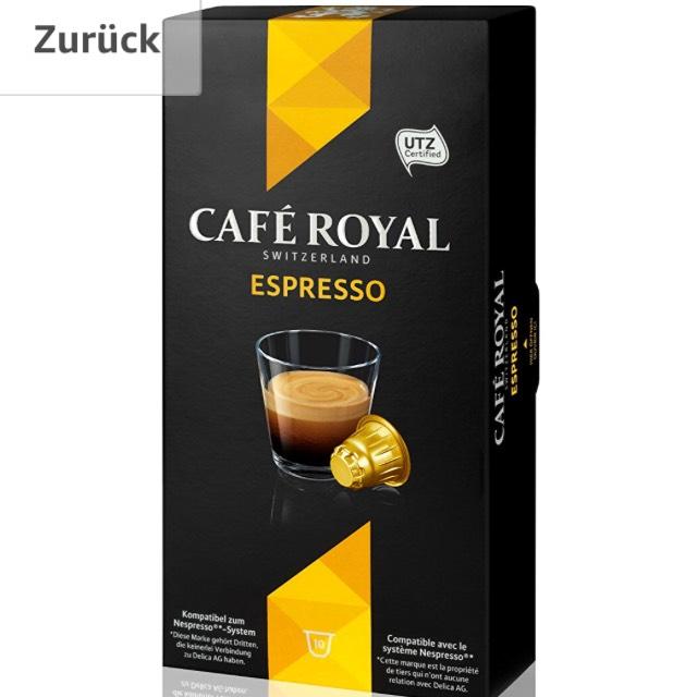 50 kaffekapseln f r 2 82 caf royal espresso amazon preisj ger at. Black Bedroom Furniture Sets. Home Design Ideas
