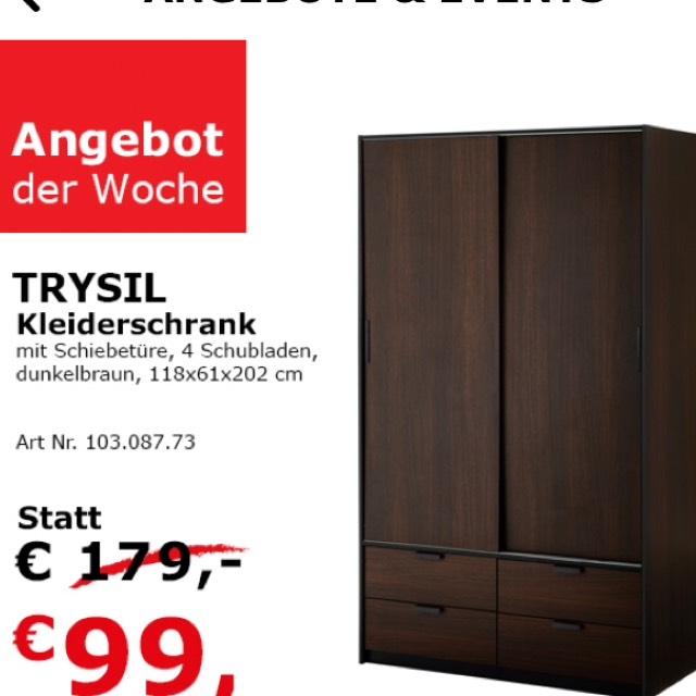 ikea angebot der woche trysil kleiderschrank preisj ger at. Black Bedroom Furniture Sets. Home Design Ideas