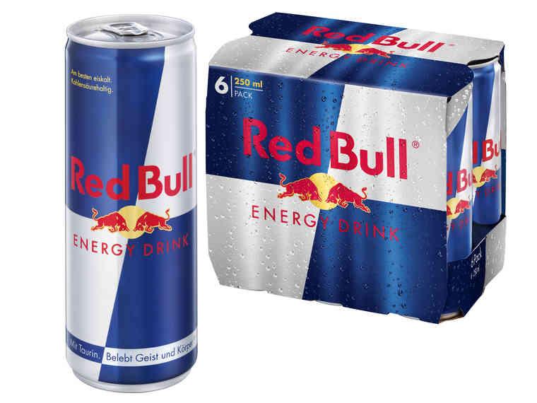 lidl red bull energydrink pro dose im 6er pack am 3 3. Black Bedroom Furniture Sets. Home Design Ideas
