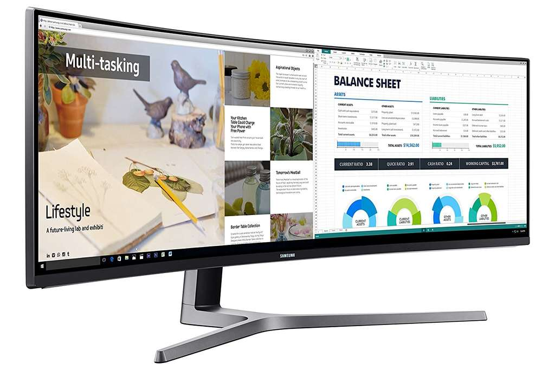 samsung c49hg90dmu 124 20 cm 49 zoll led multitasking monitor 2x hdmi display port mini. Black Bedroom Furniture Sets. Home Design Ideas