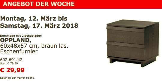 ikea kommode mit 2 schubladen oppland 12 17 m rz preisj ger at. Black Bedroom Furniture Sets. Home Design Ideas