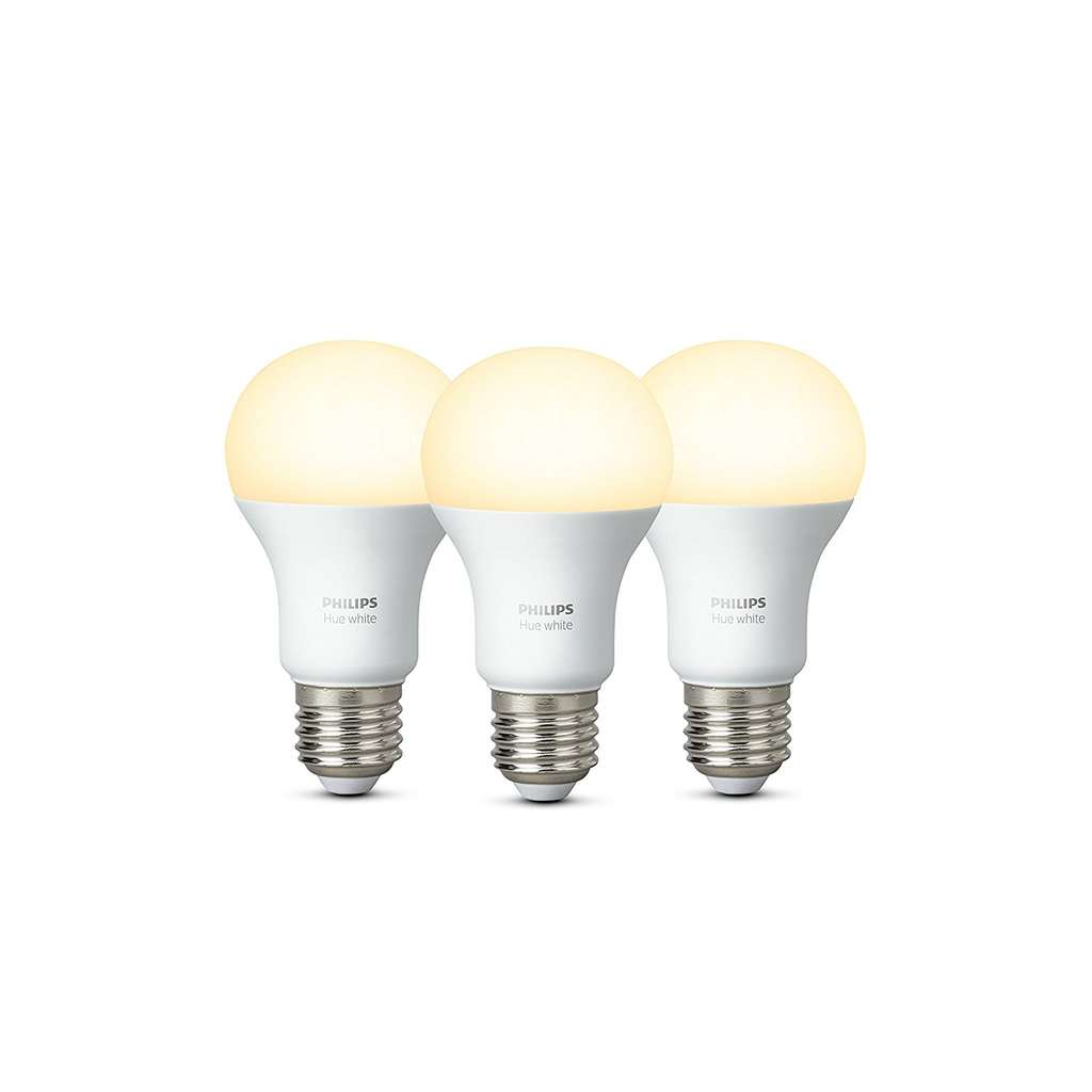 philips hue white e27 led lampe 3 er pack dimmbar warmwei es licht f r 33 90 preisj ger at. Black Bedroom Furniture Sets. Home Design Ideas