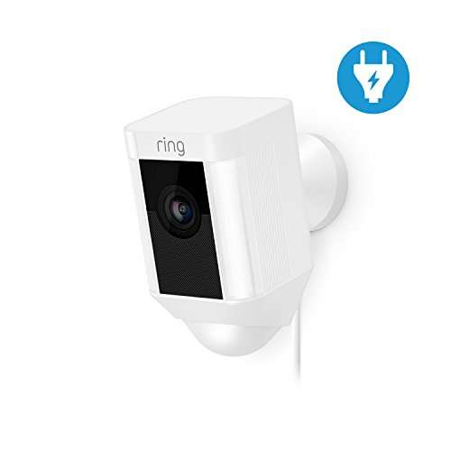 ring spotlight cam wired hd sicherheitskamera mit led. Black Bedroom Furniture Sets. Home Design Ideas