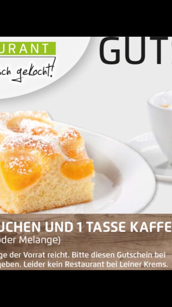 gratis kuchen und kaffee t glich ab 15 uhr in leiner und kika restaurants preisj ger at. Black Bedroom Furniture Sets. Home Design Ideas