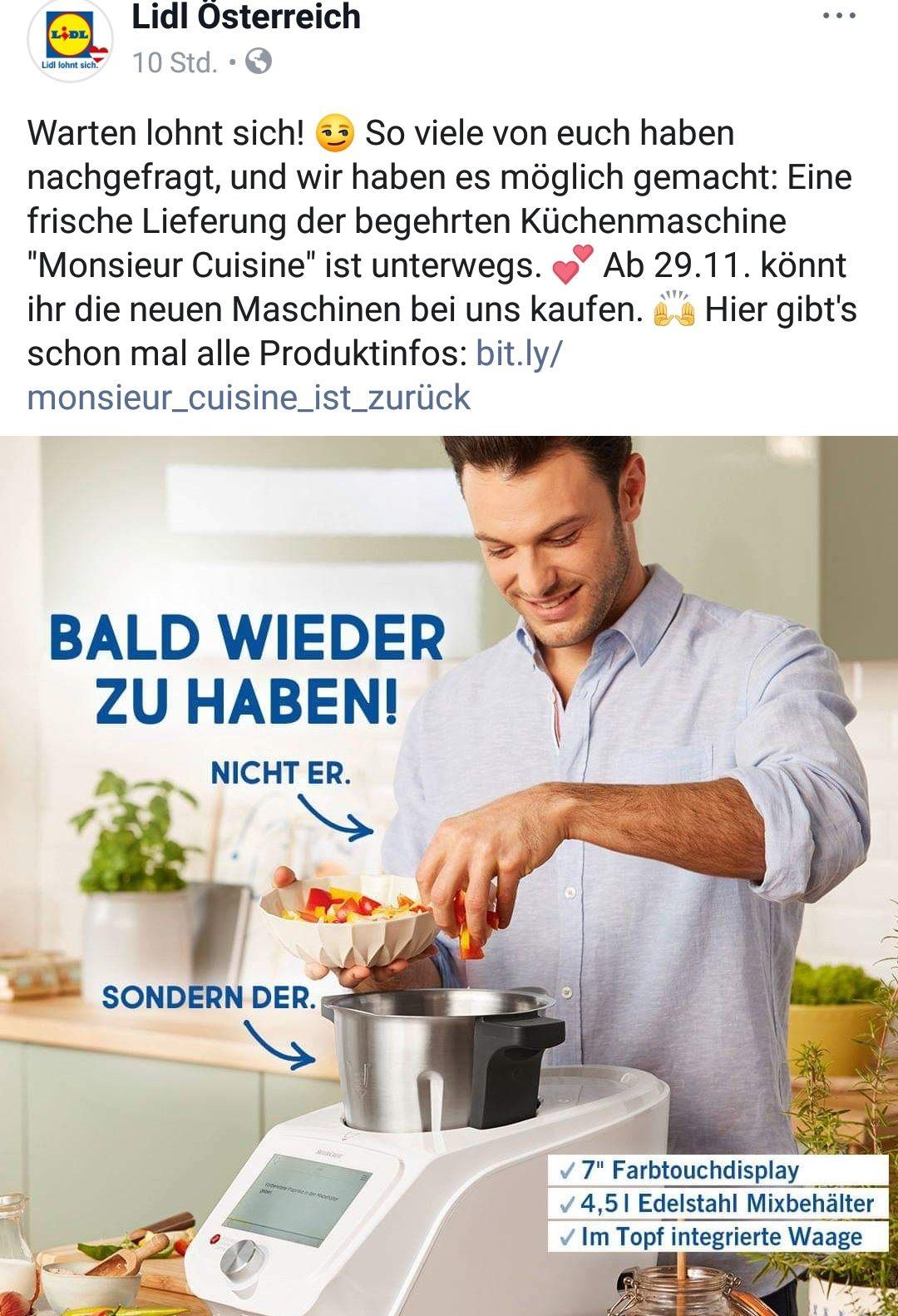 Monsieur Cuisine Connect Lidl Am 29 11 2018 Preisjager