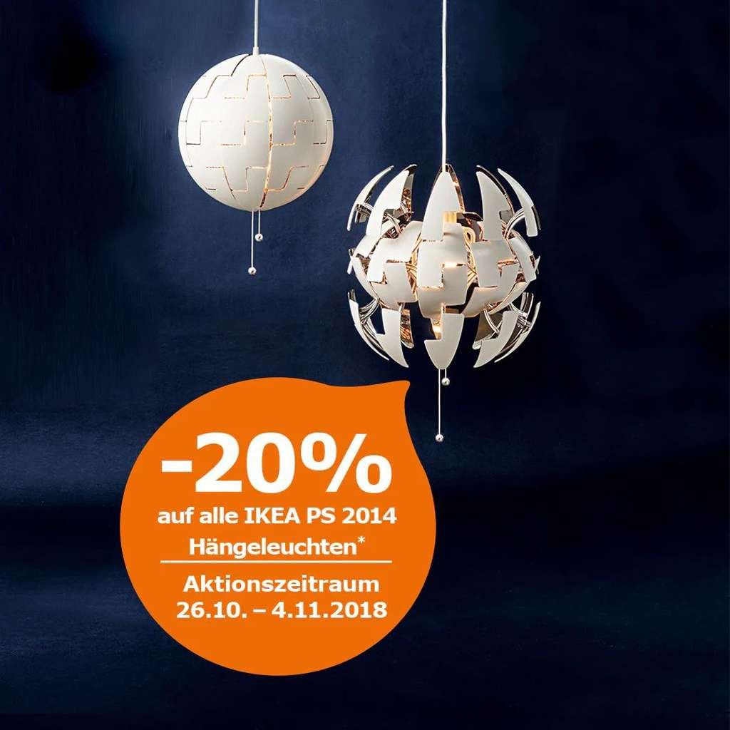ikea family angebot 20 auf alle ikea ps 2014 h ngeleuchten preisj ger at. Black Bedroom Furniture Sets. Home Design Ideas