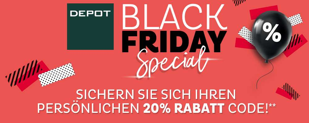 depot black friday 20 rabatt auf alles nur am 23 november preisj ger at. Black Bedroom Furniture Sets. Home Design Ideas