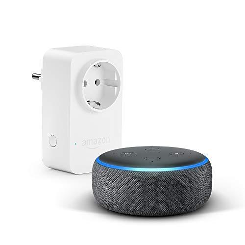 das neue echo dot 3 gen amazon smart plug wlan steckdose funktionert mit alexa. Black Bedroom Furniture Sets. Home Design Ideas