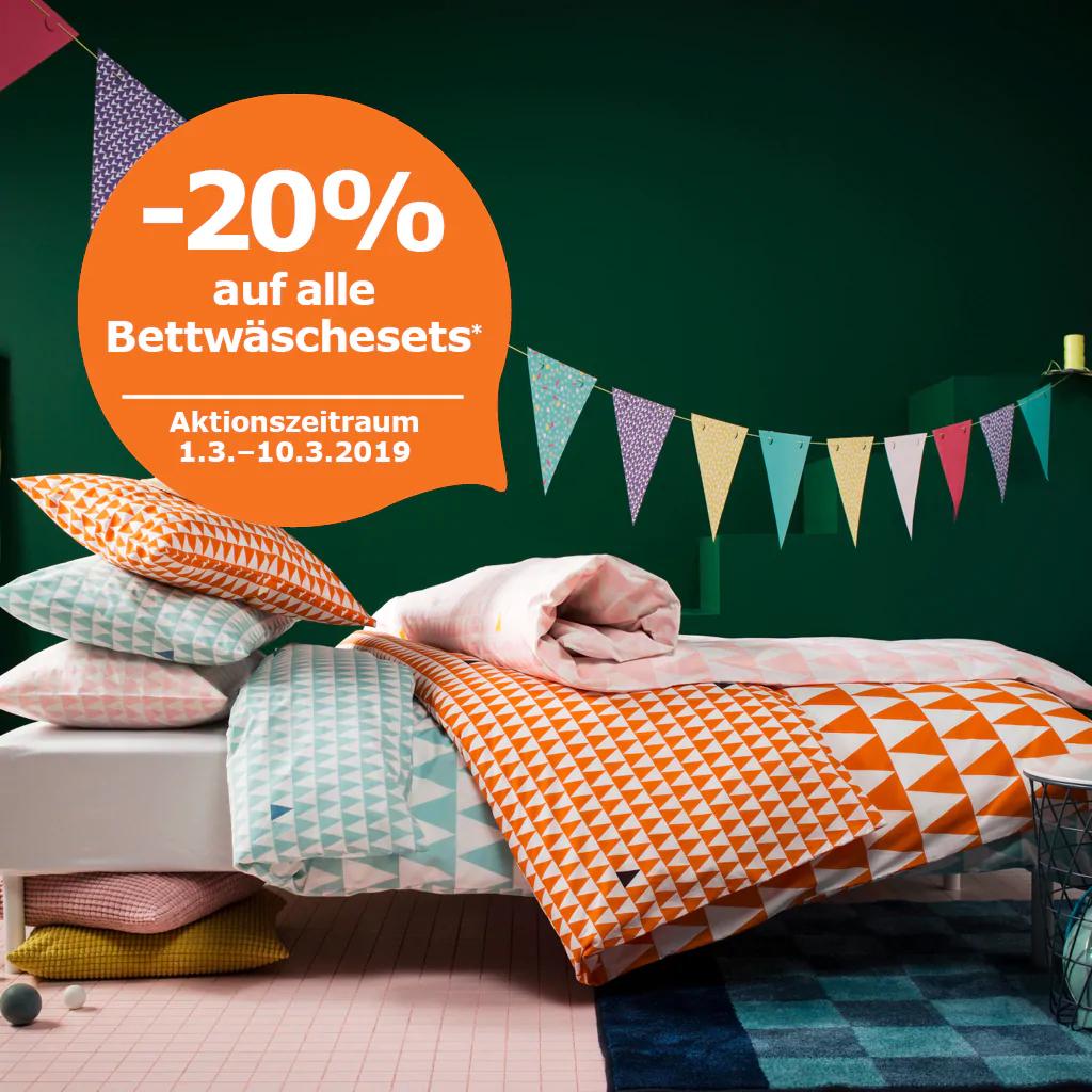 Ikea Family Angebot 20 Auf Alle Bettwäschesets Preisjäger
