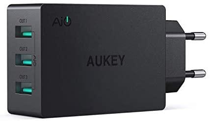AUKEY USB Ladegerät 3 Ports 30W 6A mit AiPower Technologie