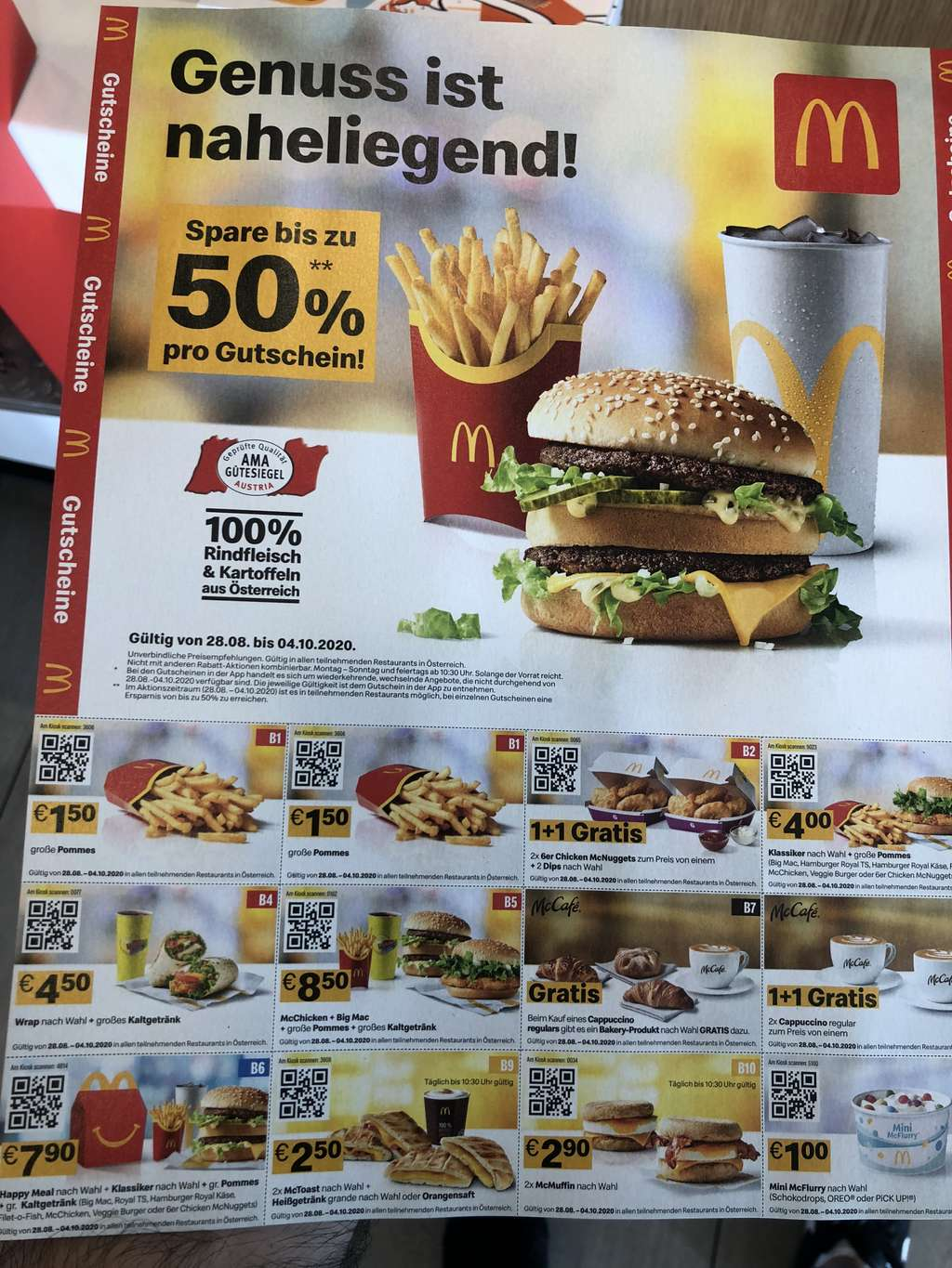 mcdonalds aktion september