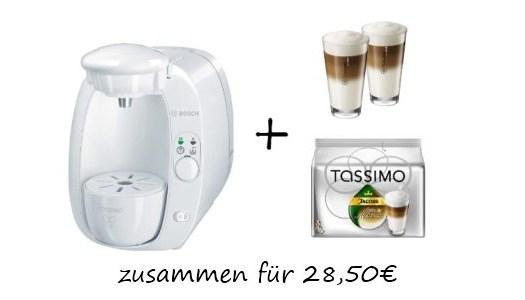 50 rabatt auf tassimo 2x wmf gl ser und 16x latte. Black Bedroom Furniture Sets. Home Design Ideas