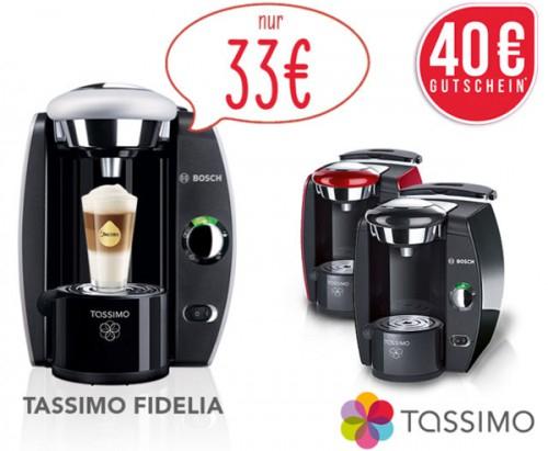 Top! Bosch Tassimo T42 für 33 € statt 64,90 € + zusätzlich 40 € Kapselguthaben