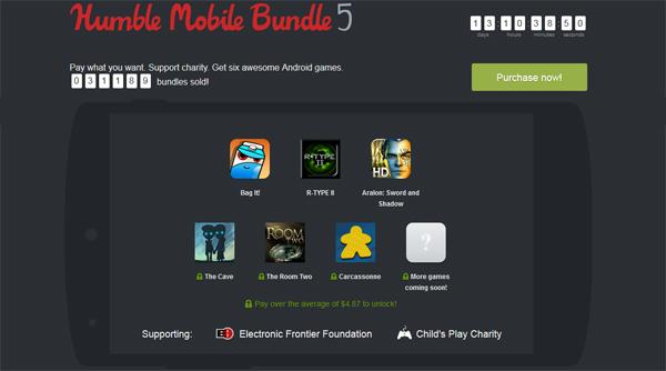 The Humble Mobile Bundle 5 mit bis zu 6 Spielen für Android ab 0,01 €
