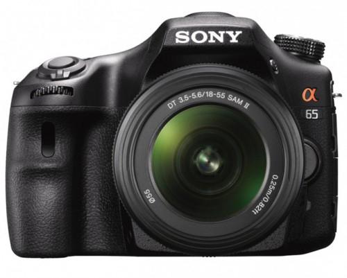 Sony Alpha 65 DSLR mit 18-55 mm Objektiv für 481,99 € - 16% Ersparnis