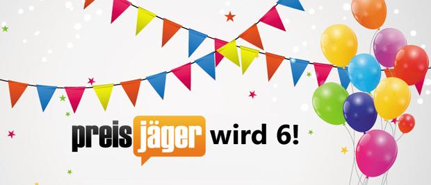Preisjäger feiert 6. Geburtstag! Mitmachen und PlayStation 4-Bundle oder Fujifilm X-F1 gewinnen