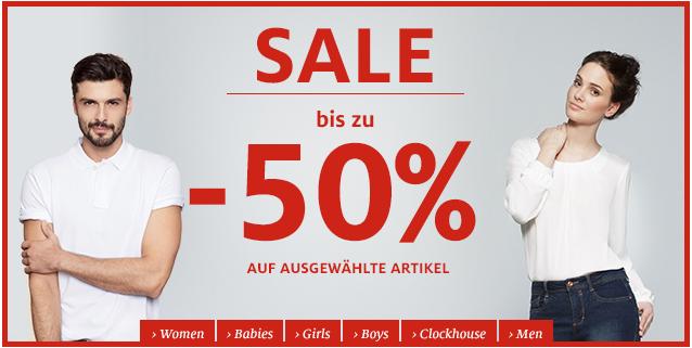 C&A: Sale mit bis zu 50% Rabatt & weitere 10% sparen mit Gutschein