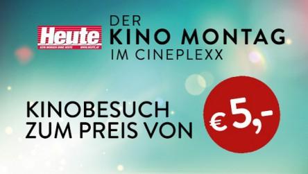Cineplexx: Jeden Montag mit Gutschein um nur 5 € ins Kino