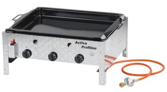 Edelstahl-Gasgrill mit Pfanne: Activa 12525 für 85 Euro auf Möbelix.at