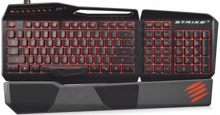 Mad Catz S.T.R.I.K.E.3 Gaming Tastatur in schwarz um 77 € - bis zu 20% sparen