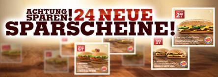 Neues Gutscheinheft für Burger King Deutschland - gültig bis 31.05.2014 - bis zu 50% sparen