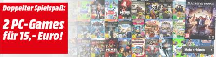 Media Markt Gaming Angebot: 2 Games für 15 € - bis zu 63% sparen