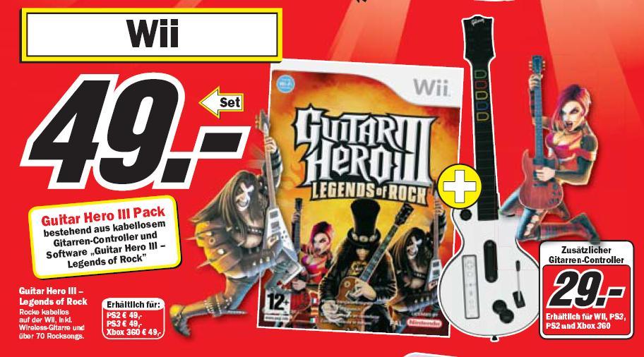[PS3,Wii,X360,PS2] Guitar Hero Bundle für alle Konsolen für 49€