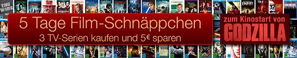 Amazon: 5 Tage Filmschnäppchen - mit 3 Blu-rays für 18 € oder DVDs für 4,97 €