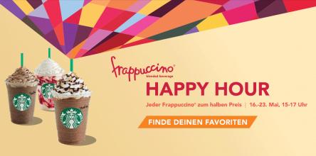 Starbucks Österreich & Deutschland: jeder Frappuccino zw 15-17 Uhr zum halben Preis - 50% sparen