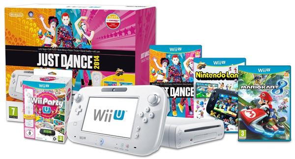 Wii U Basic Pack (8GB) + Just Dance 2014 + Nintendo Land + Wii Party U + Mario Kart 8 + weiteres Spiel für 252 €