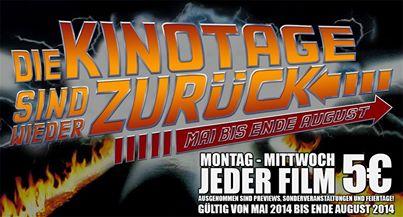 Lugner Kino: Montag bis Mittwoch um 5 € ins Kino - gültig für alle Filme (inkl. 3D und Überlänge)