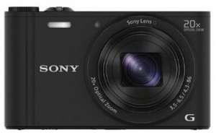 """Sony DSC-WX350 Kompaktkamera (18 MP, 20-fach opt. Zoom, 3"""", NFC, WiFi) für 179 € jetzt 13% sparen"""