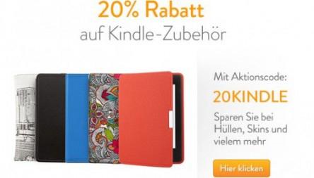 Amazon: 20% Rabatt auf einen Kindle-Zubehör Artikel eurer Wahl aus dem gesamten Amazon-Sortiment