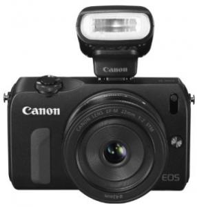 Canon EOS M inkl. EF-M 22mm 1:2 STM Objektiv, Speedlite 90EX Blitz und Mount Adapter EF-EOS M um 399 € - bis zu 37% sparen