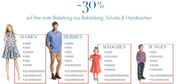Amazon: 30% Rabatt die erste Bestellung aus Bekleidung, Schuhe & Handtaschen