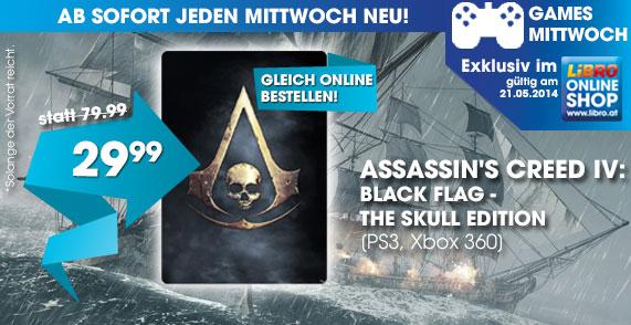 Assassin's Creed 4: Black Flag - The Skull Edition (PS3/Xbox 360) für je 29,99 €